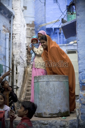women and children outdoors jodhpur rajasthan