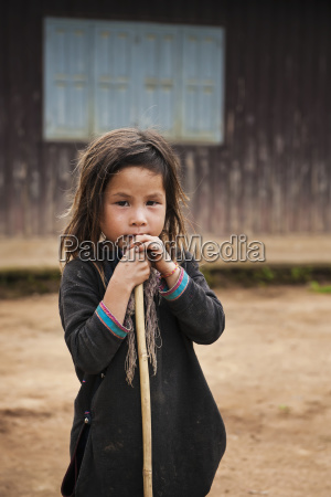 portrait of a hill tribe girl