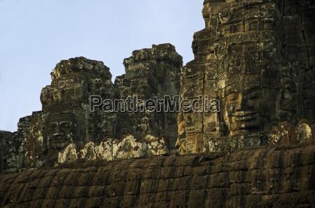 bayon temple angkor thom faces created