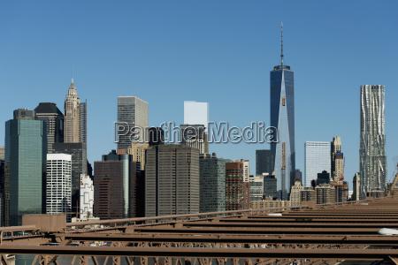 skyline of new york city new
