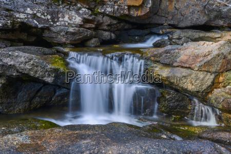 waterfall over rocks fernie british columbia