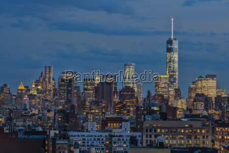 lower manhattan at twilight new york