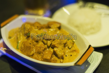 khmer chicken curry from local restaurant
