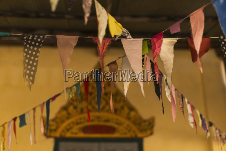 prayer flags in a local buddhist