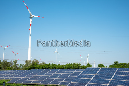 solar and wind turbines with power