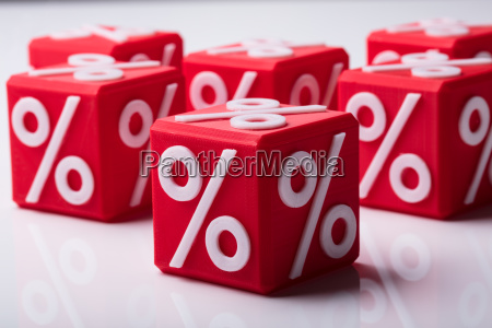 close up of red wooden blocks