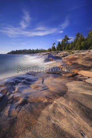 rocky shoreline of lake superior at