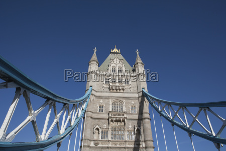 tower bridge which crosses the river
