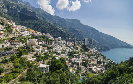 the town of positano on the