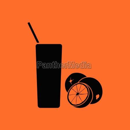 orange juice glass icon