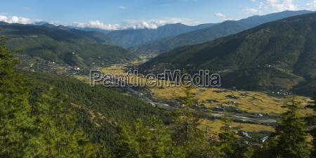 landscape of the paro valley paro