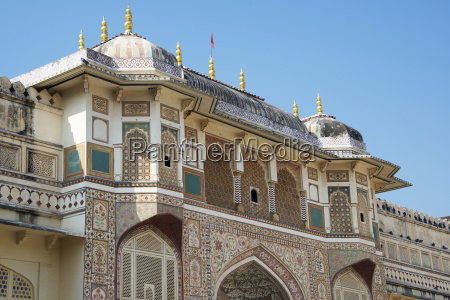 amber fort upper floor jaipur rajasthan