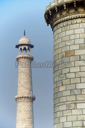 one taj mahal minaret beside another