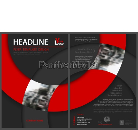abstract flyer template with circle shapes