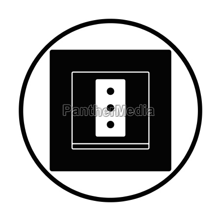 italy electrical socket icon