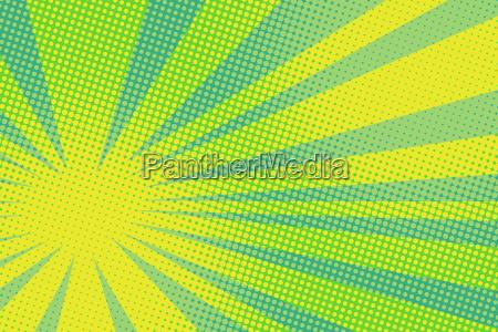 green yellow pop art background