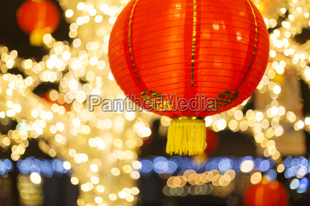 red and gold chinese lantern with