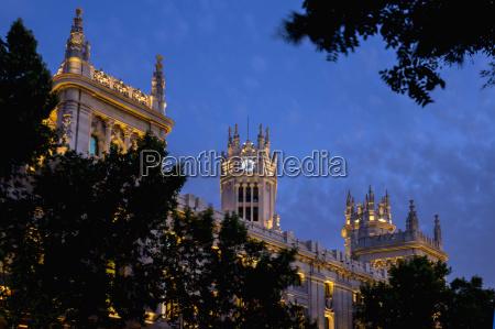 plaza de cibeles palace madrid spain