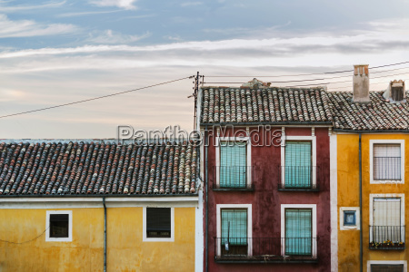 colourful houses in cuencas downtown cuenca