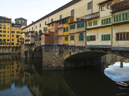 colourful buildings on ponte vecchio over
