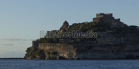 ischia island with walls along the