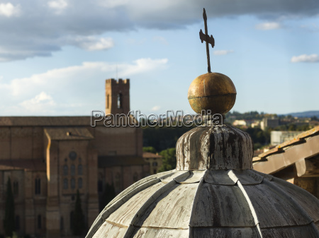 cross on top of a dome