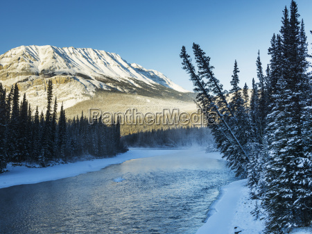 a landscape with snow along the