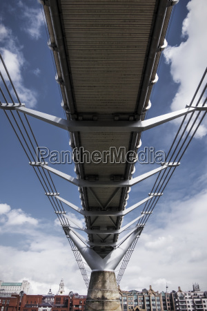 a low angle view underneath the