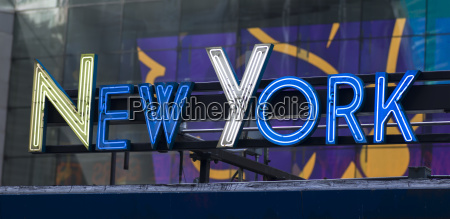 neon sign for new york in