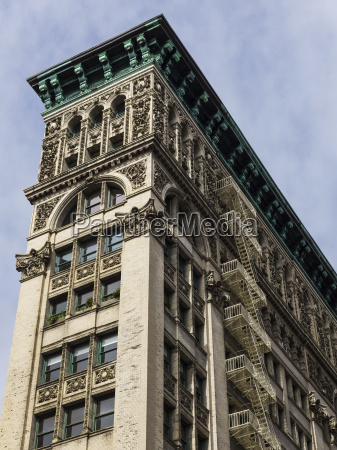 residential building with ornate facade and