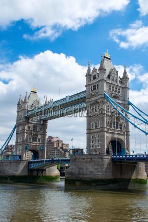tower bridge over river thames london