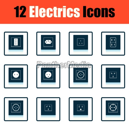 elektrik symbol set