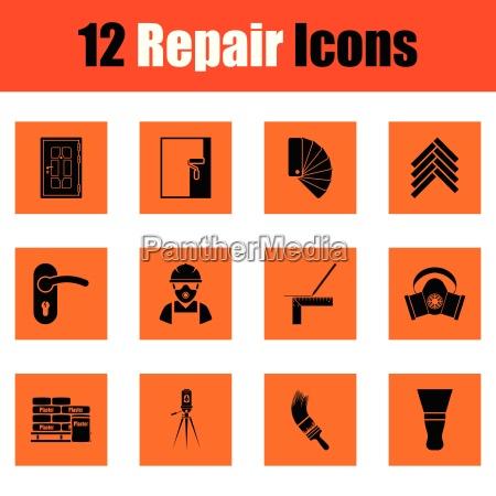 set of flat repair icons