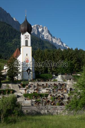 dorfkirche in grainau