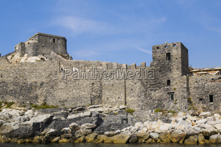 medieval fortress ruins porto venere la