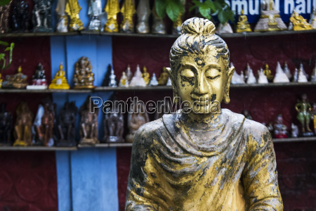 a statue at a buddhist temple