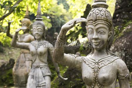 buddhist statues in secret buddha garden