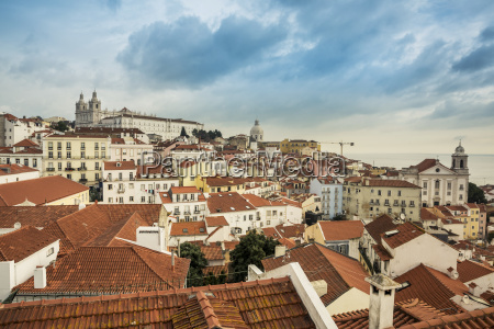 view of the city from alfama