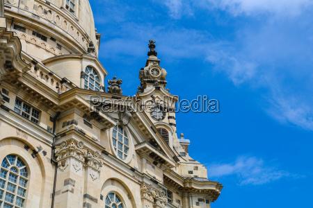 dresdener frauenkirche in sachsen in deutschland