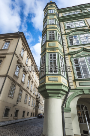 colourful facade of the corner of