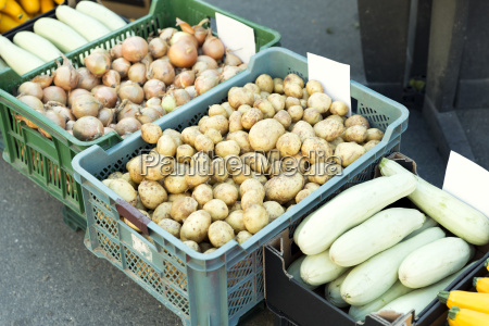 fresh produce on sale at the