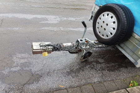 trailer hitch on a trailer for