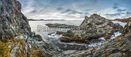 rugged rocks along the atlantic coastline