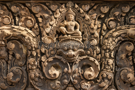 bas relief of shiva mounted on