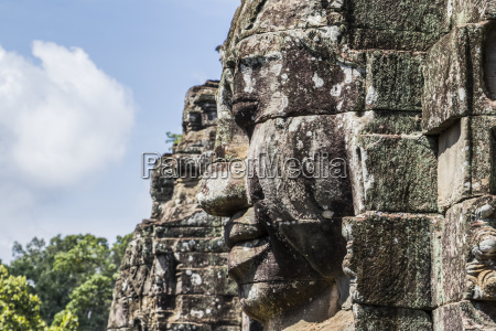 face towers of the bayon angkor