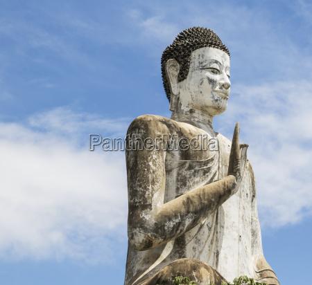 buddha statue at the modern wat