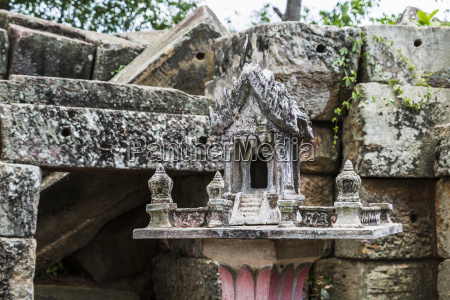 spirit house by the ancient angkorian