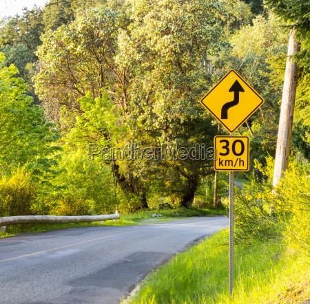 sunset road auf dem weg zum