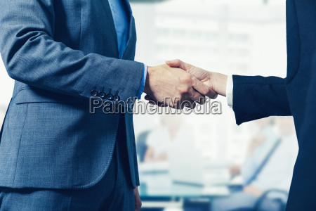 business people meeting and handshake in