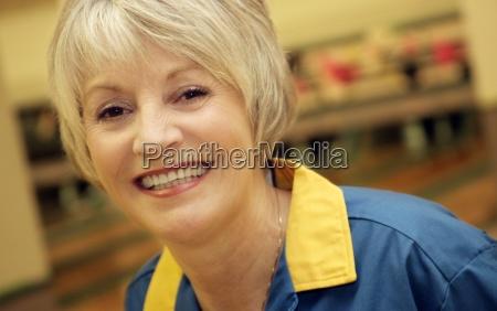 portrait of smiling adult woman